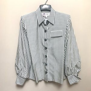 Christian Dior Long Sleeve Striped Shirt